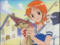 Young Nami with a map