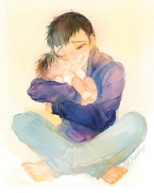Young Tadashi and Baby Hiro