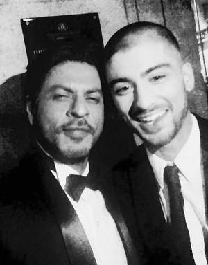 Zayn Malik with SRK