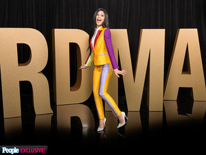 Zendaya behind the scenes portrait at RDMAs 2015