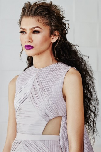 Zendaya Coleman wallpaper probably with a cocktail dress, a blouse, and a portrait called Zendaya for Harper's Bazaar
