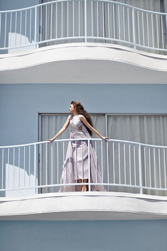 Zendaya Coleman wallpaper possibly with a bannister and a front porch called Zendaya for Harper's Bazaar