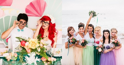 Ariel and Eric वॉलपेपर containing a bridesmaid and a bouquet called a royal wedding