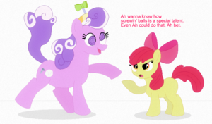 applebloom meets screwball