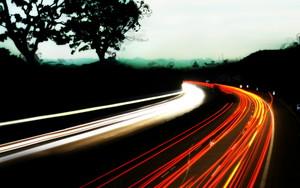 beautiful roads at night