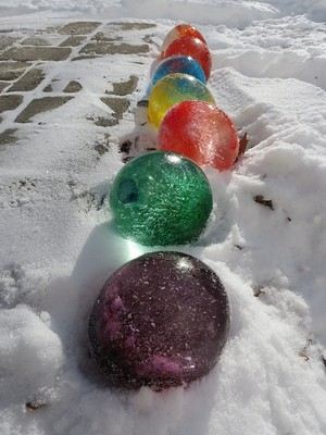 frozen water balloon marbles