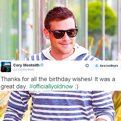 happy birthday our malaikat cory monteith <33