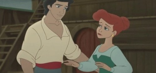 Ariel and Eric wallpaper with anime entitled oh eric be careful ariel