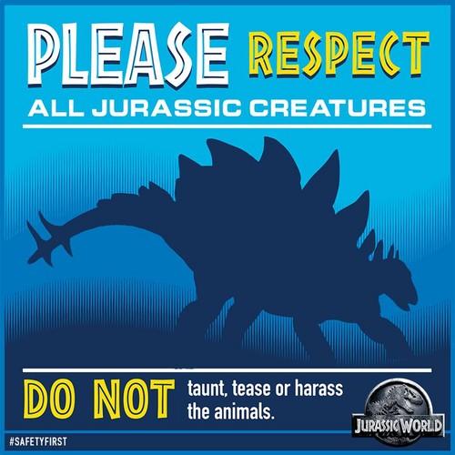 Jurassic Park پیپر وال with عملی حکمت entitled please respect