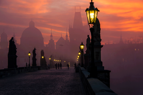 Dreamtime wallpaper called prague at dusk