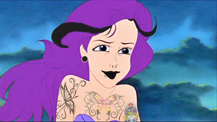 Punk Rock Little Mermaid Mermaid Punk Rock Ariel