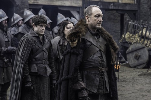 House Stark wallpaper probably with a street and a box coat titled roose and ramsay