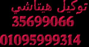 صلاحيه توكيل هيتاشي 01210999852 صيانه فوريه 35682820 اصلاح بالم
