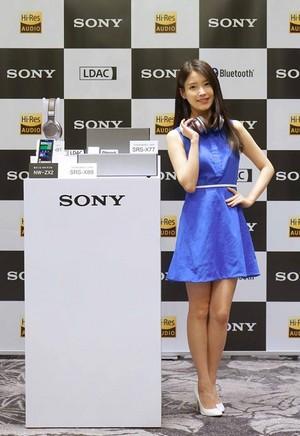 150527 IU for Sony Korea (소니코리아) Premium Bluetooth audio speakers
