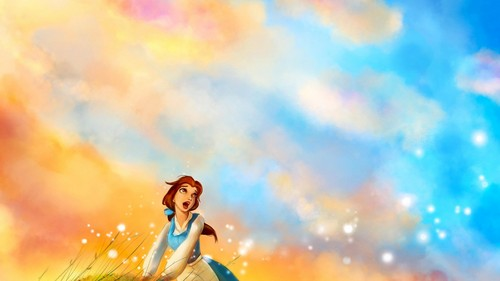 Beauty and the Beast wallpaper titled                  Belle