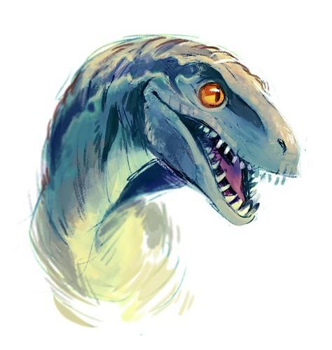 Jurassic World karatasi la kupamba ukuta called Blue