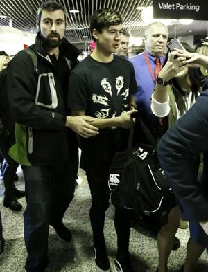 Calum at the Airport