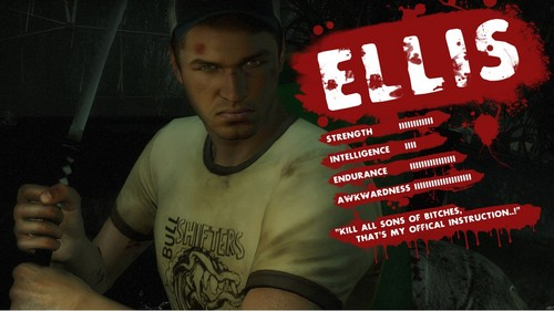 left 4 dead 2 wallpaper possibly with a sign titled    Ellis