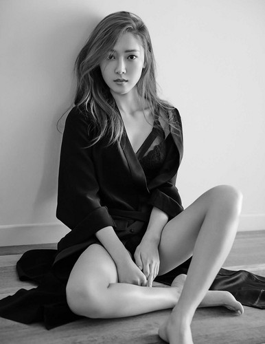 jessica snsd wallpaper probably containing bare legs, hosiery, and tights titled Jessica – Marie Claire Magazine June Issue '15