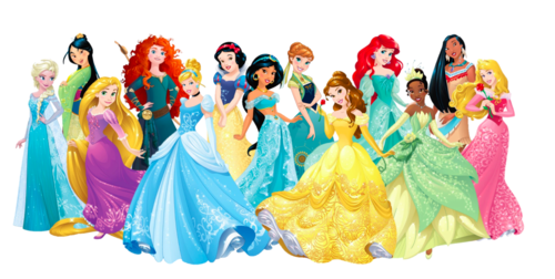 Disney Princess karatasi la kupamba ukuta entitled 13 Princesses 2015 redesign