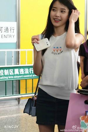 150615 IU Arriving GuangZhou, China