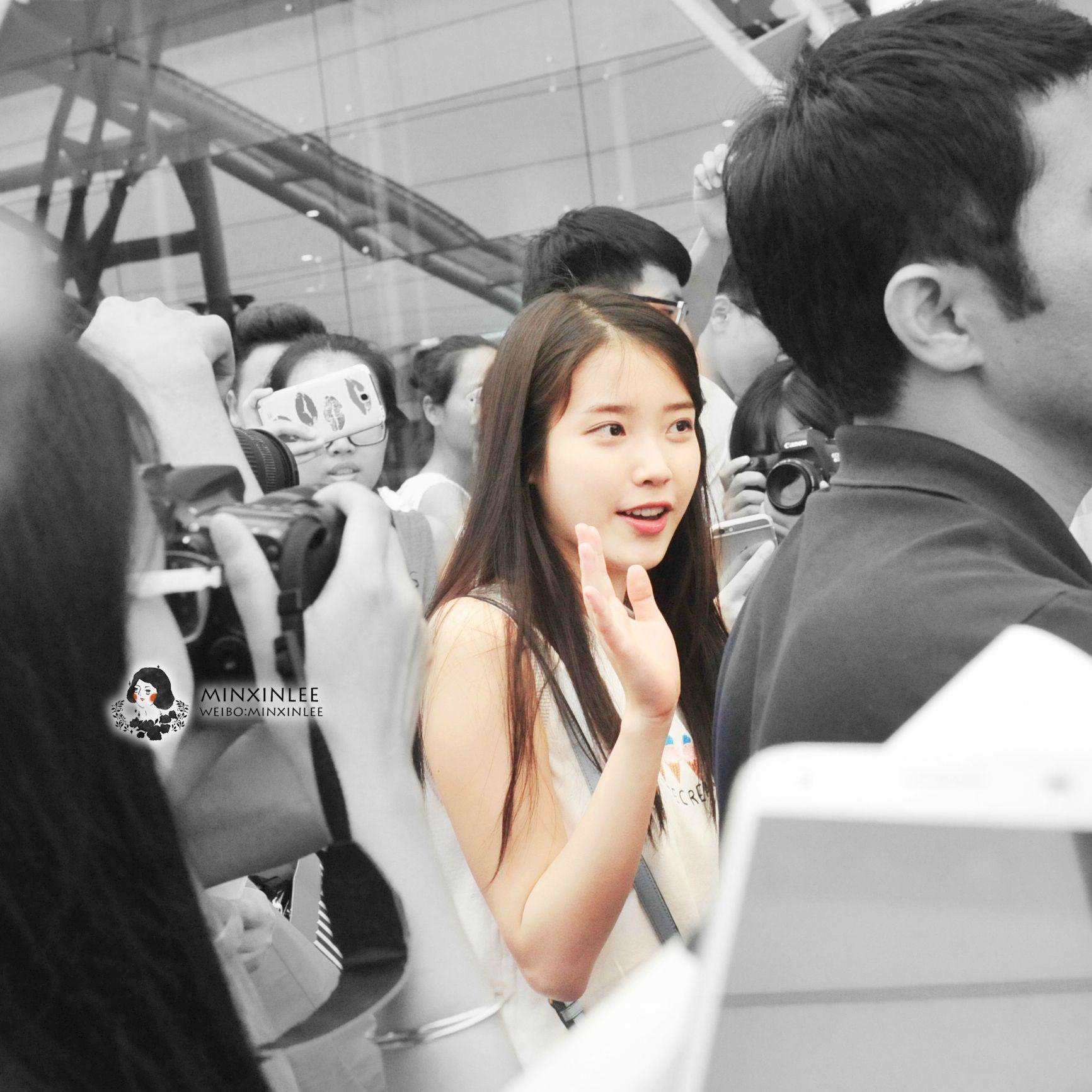 150615 IU(アイユー) Arriving GuangZhou, China