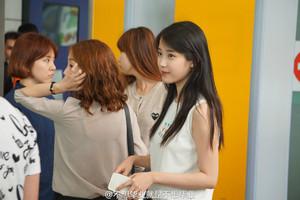 150615 IU Arriving at GuangZhou Airport