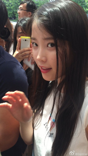 150615 iu Arriving at GuangZhou Airport