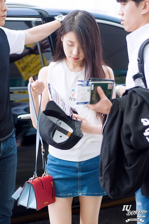 150615 iu at Incheon Airport Leaving for GuangZhou