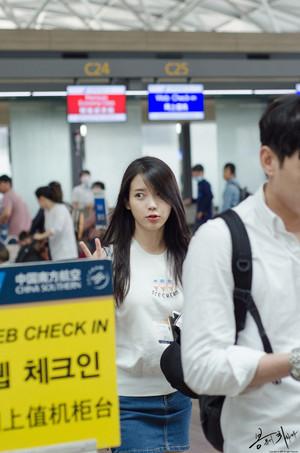 150615 IU at Incheon Airport Leaving for GuangZhou