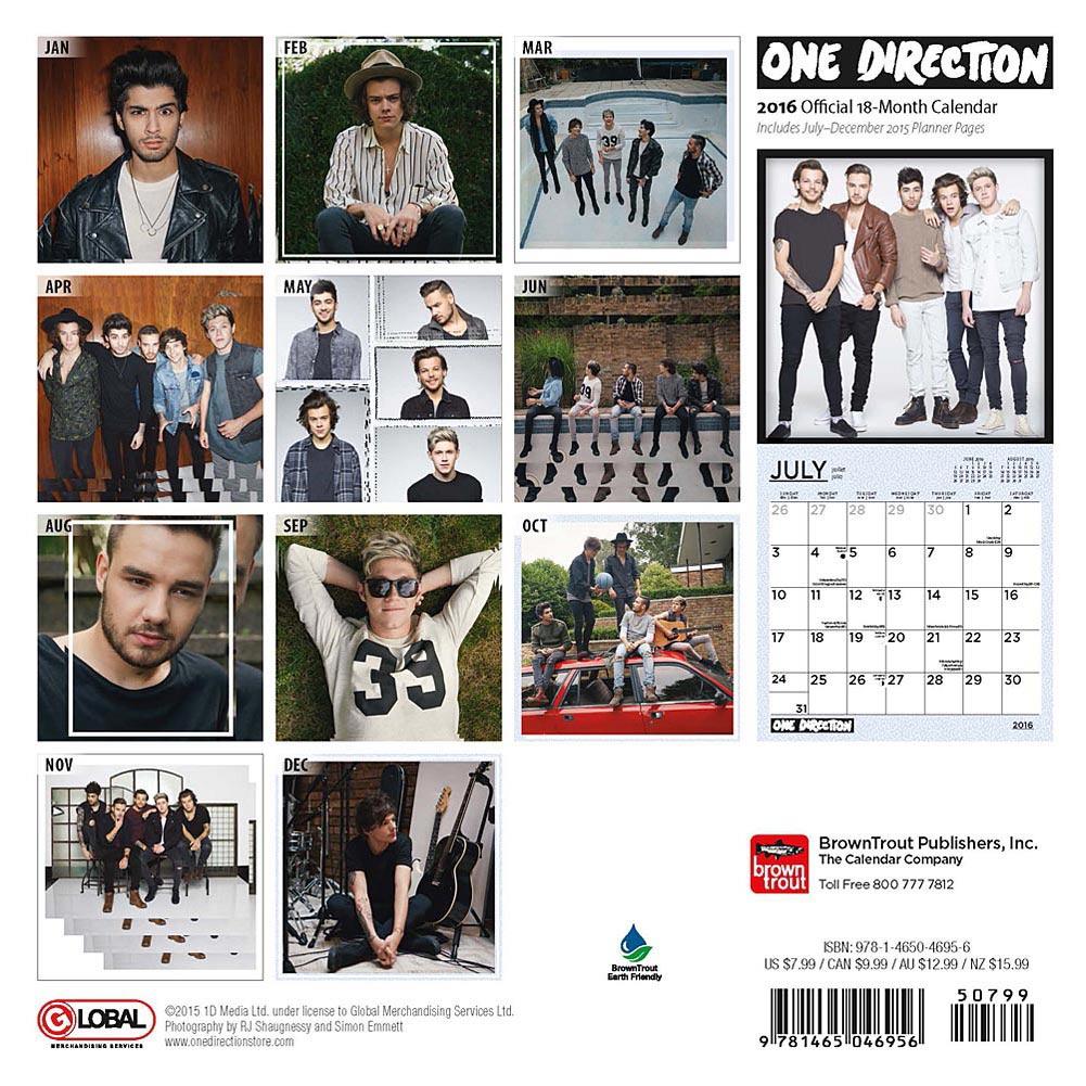 1D's Official calendar 2016