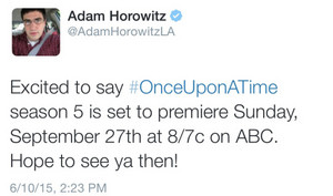 Adam's Tweet