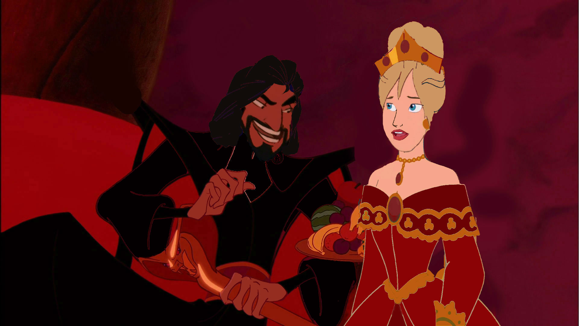 Anastasia Tremaine and Jafar in Once Upon A Time In Wonderland (animated)