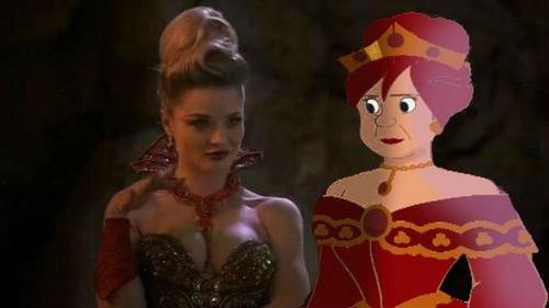 princesas de disney fondo de pantalla titled anastasia Tremaine and her Once Upon A Time counterpart