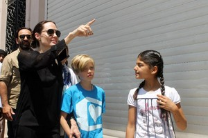Angelina Jolie in Mardin, Turkey