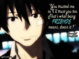 anime friendship quote (: