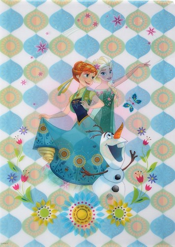 Frozen Fever Hintergrund titled Anna, Elsa and Olaf