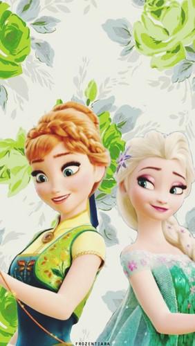 Frozen Fever Hintergrund called Anna and Elsa