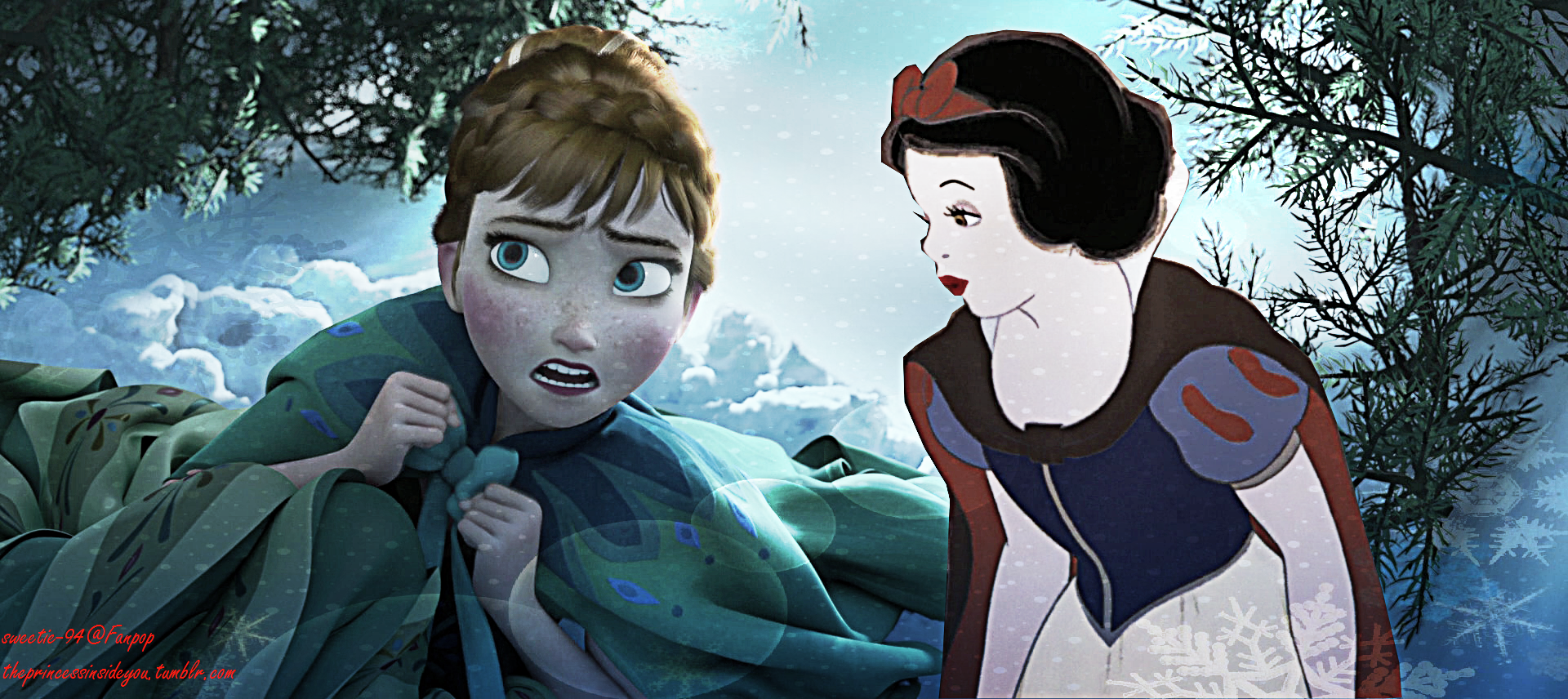 Anna and Snow White