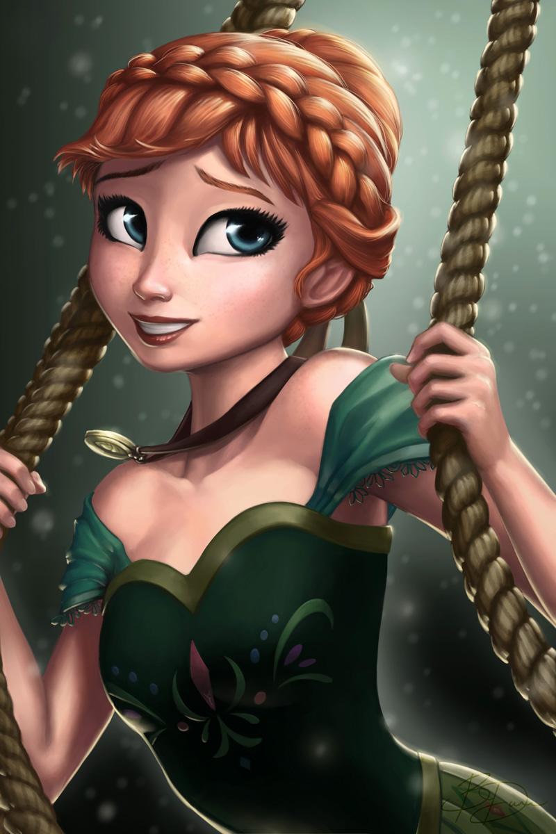 Disneys Frozen: Anna by Irishhips on DeviantArt