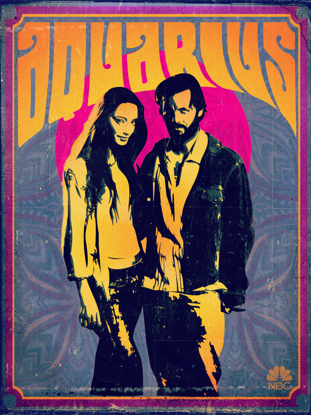 Aquarius Poster - Emma Karn and Charles Manson