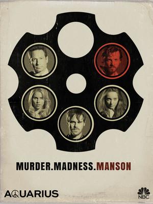 Aquarius Poster - Murder. Madness. Manson.