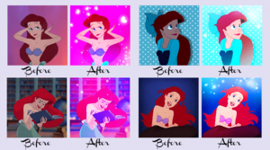 Ariel Icons Before and After