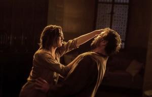 Arya Stark and Meryn Trant