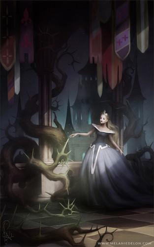 Disney Extended Princess karatasi la kupamba ukuta titled Aurora