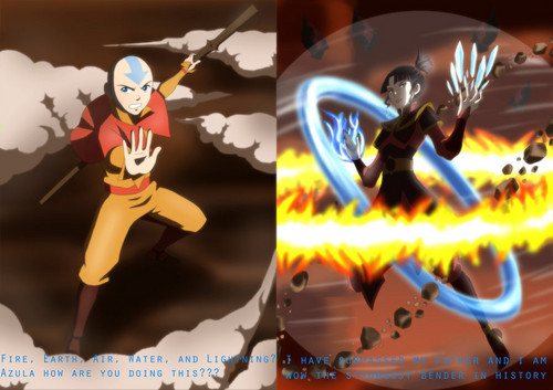 Avatar The Last Airbender kertas dinding possibly with Anime entitled Azula vs Aang