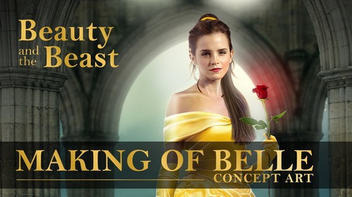 Beauty and the Beast (2017) پیپر وال with a portrait titled Belle