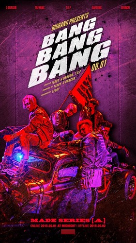 big bang wallpaper containing animê titled Big Bang drops another poster for 'Bang Bang Bang'