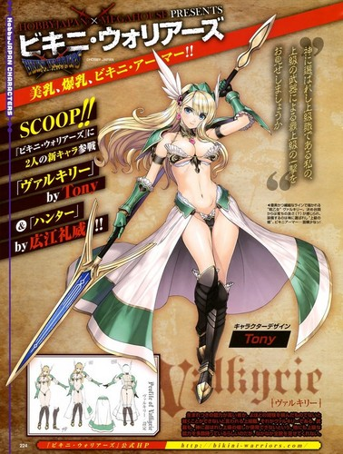anime Girls achtergrond containing anime called Bikini Warriors Valkyrie