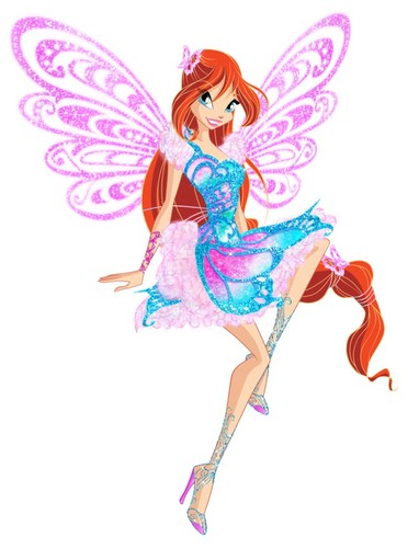 Winx Club fond d'écran entitled Bloom Butterflix